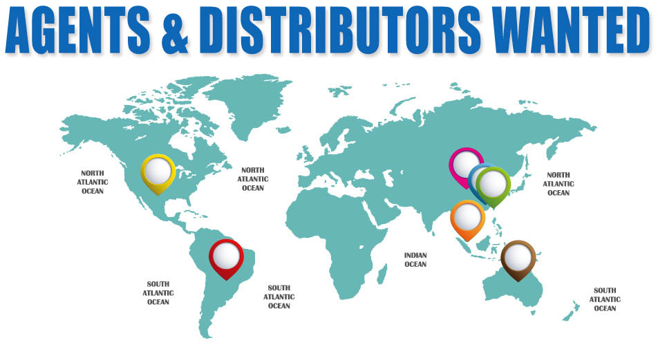 agents and distributors all around the world